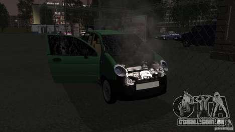 Daewoo Matiz para GTA San Andreas vista interior