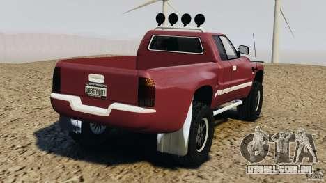 Dodge Ram 2500 Army 1994 v1.1 para GTA 4 traseira esquerda vista