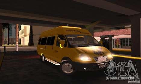 Gazela 2705 Minibus para GTA San Andreas vista direita