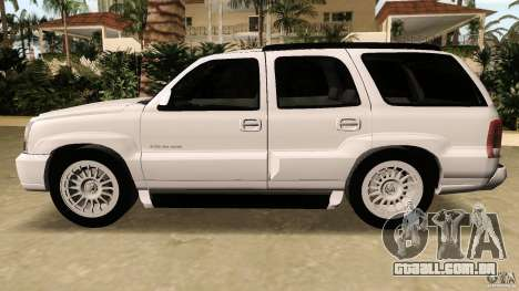 Cadillac Escalade para GTA Vice City vista interior