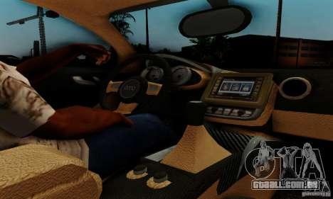 Audi R8 LeMans para GTA San Andreas vista traseira