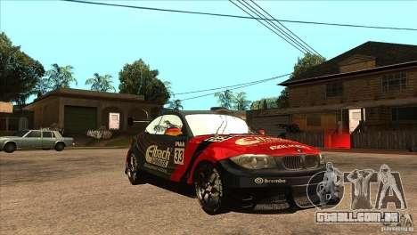 BMW 135i Coupe GP Edition Skin 2 para GTA San Andreas vista traseira