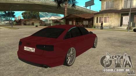 Audi A6 (C7) para GTA San Andreas vista direita