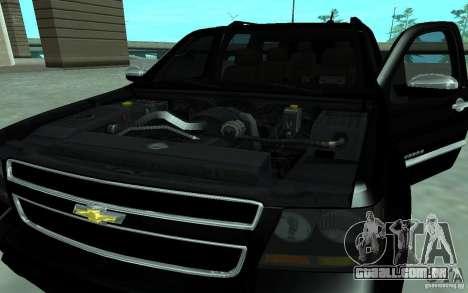 Chevrolet Suburban 2010 para GTA San Andreas traseira esquerda vista