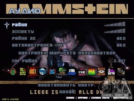 Menu de Rammstein para GTA San Andreas segunda tela