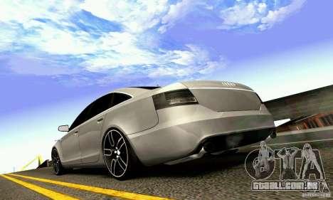 Audi A6 Blackstar para GTA San Andreas vista superior