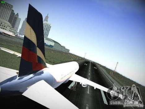 Aeroflot Russian Airlines Airbus A320 para GTA San Andreas vista direita