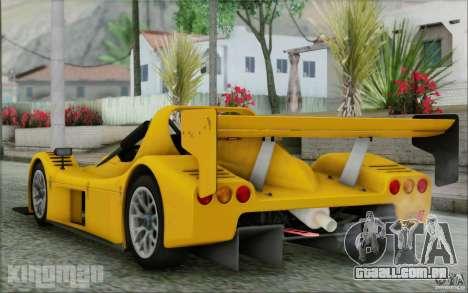 Radical SR3 RS 2009 para GTA San Andreas esquerda vista