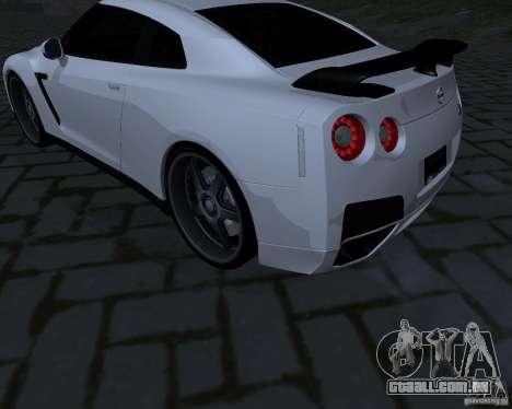Nissan GTR-35 Spec-V para GTA San Andreas vista traseira