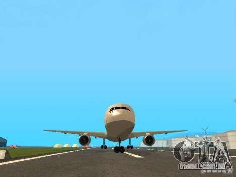 Boeing 767-300 Lufthansa para GTA San Andreas vista interior