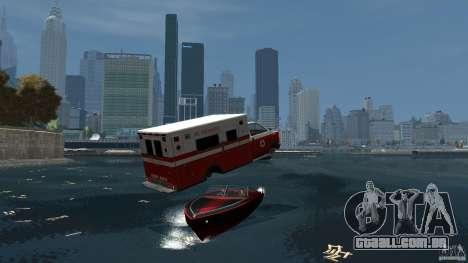 Ambulance boat para GTA 4 vista de volta