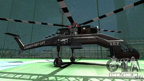 Liberty Sky-lift para GTA 4 esquerda vista