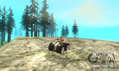 QUAD BIKE Custom Version 1 para GTA San Andreas vista traseira