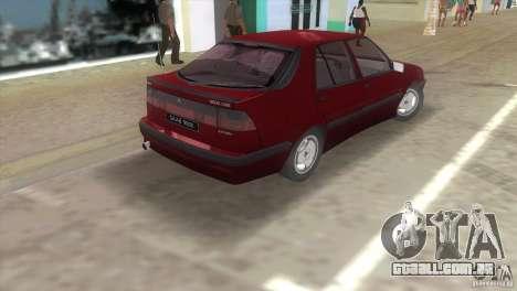 SAAB 9000 Anniversary v1.0 para GTA Vice City vista traseira esquerda