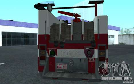FIRETRUCK para GTA San Andreas vista direita