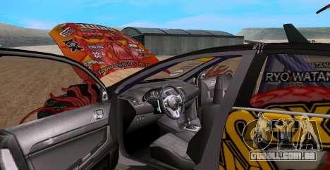 Mitsubishi Lancer Evolution RYO Vatanabe para GTA San Andreas vista direita