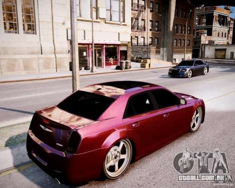 Chrysler 300 SRT8 DUB 2012 para GTA 4 vista de volta
