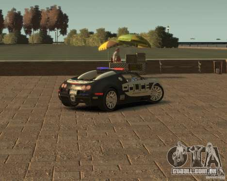 Bugatti Veyron Police [EPM] para GTA 4 traseira esquerda vista