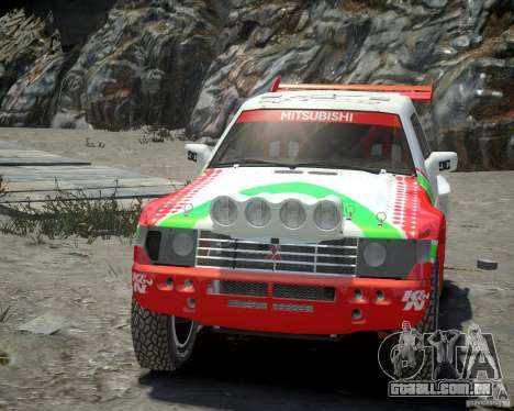 Mitsubishi Pajero Proto Dakar EK86 vinil 2 para GTA 4 vista interior