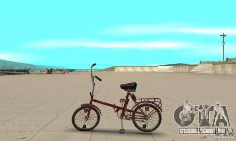 Bicicleta de Kama para GTA San Andreas esquerda vista