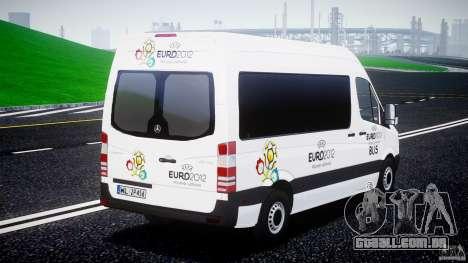 Mercedes-Benz Sprinter Euro 2012 para GTA 4 vista lateral