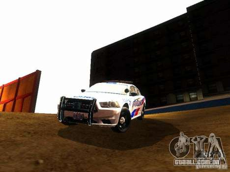 Dodge Charger 2011 Toronto Police para GTA San Andreas vista interior