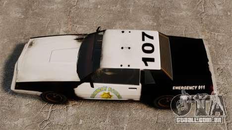 Polícia de coloração para um Sabre enferrujado para GTA 4