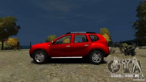 Dacia Duster SUV 4x4 2010 para GTA 4 esquerda vista