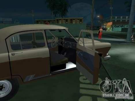 Táxi de gás M21T para GTA San Andreas vista inferior