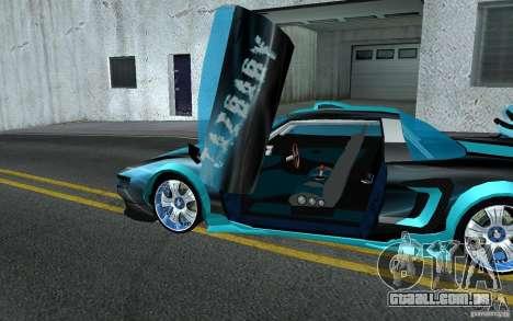 Baby blue Infernus para GTA San Andreas vista interior