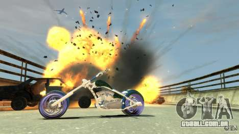 HellFire Chopper para GTA 4 vista lateral