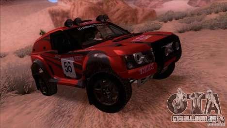Range Rover Bowler Nemesis para GTA San Andreas vista traseira