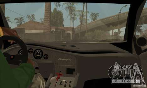 Lamborghini Diablo GT-R para GTA San Andreas vista interior
