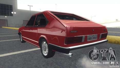 Volkswagen Passat TS 1981 Original para GTA San Andreas esquerda vista