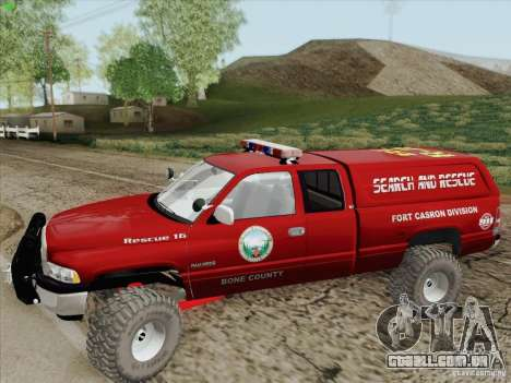 Dodge Ram 3500 Search & Rescue para GTA San Andreas vista inferior