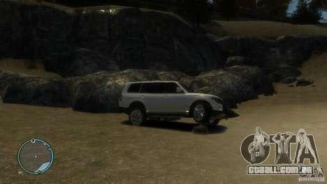 Mitsubishi Pajero Wagon para GTA 4 vista de volta