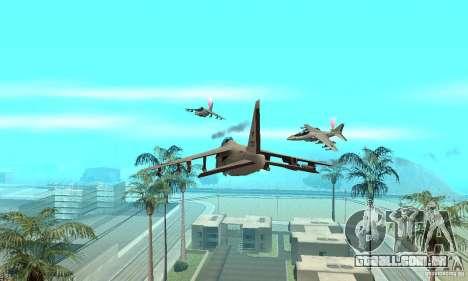 Guerra aérea para GTA San Andreas terceira tela