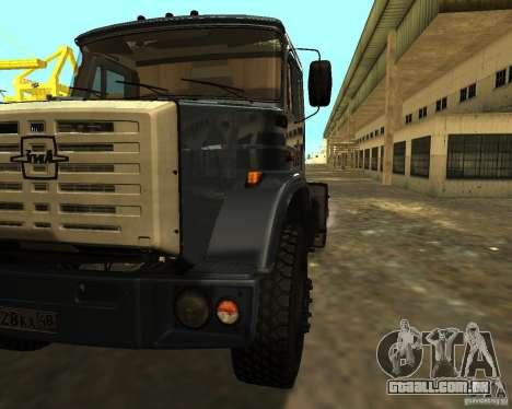 ZIL 5417 CONFORME para GTA San Andreas vista traseira