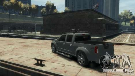 Nissan Frontier para GTA 4 vista direita