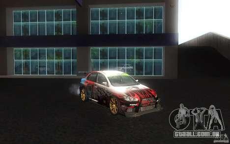 Mitsubishi Lancer Evolution X Gymkhana para vista lateral GTA San Andreas