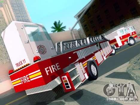 Seagrave Tiller Truck para GTA San Andreas esquerda vista