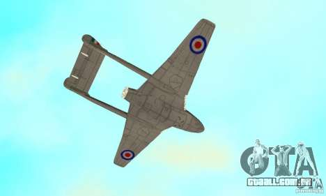 De-Havilland-Vampire ver 2.0 para vista lateral GTA San Andreas