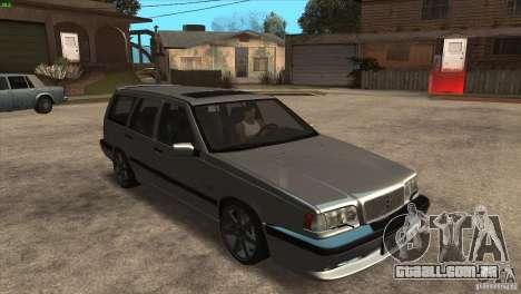 Volvo 850 R para GTA San Andreas vista traseira
