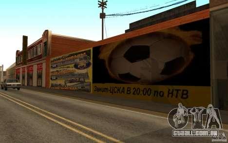 Nova rua da praia para GTA San Andreas por diante tela