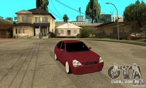 VAZ Lada Priora 2172 LT para GTA San Andreas vista traseira