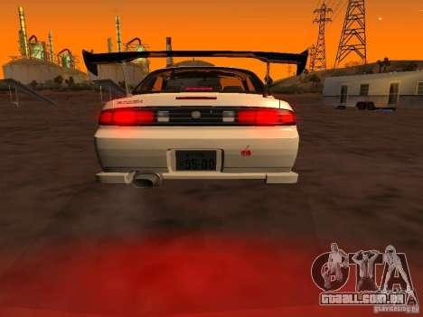 Nissan Silvia S14 JDM para GTA San Andreas traseira esquerda vista