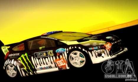 Ford Fiesta Gymkhana 4 para GTA San Andreas traseira esquerda vista