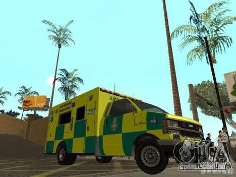 London Ambulance para GTA San Andreas esquerda vista