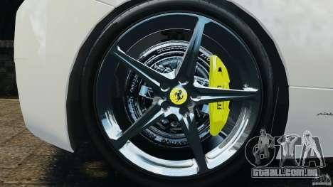 Ferrari 458 Italia 2010 v2.0 para GTA 4 vista de volta