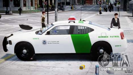 Dodge Charger US Border Patrol CHGR-V2.1M [ELS] para GTA 4 vista interior